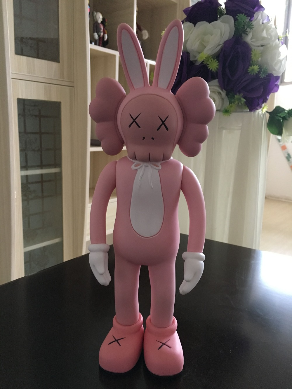[Top] 30cm OrigialFake Black/Pink KAWS Rabbit girl Maid toy Original Fake Action Figure Collection Model gift[Top] 30cm OrigialFake Black/Pink KAWS Rabbit girl Maid toy Original Fake Action Figure Collection Model gift
