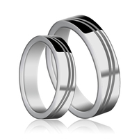 Fashion Jewelry Couples' Tungsten Carbide Rings Engraving Ring Pairs For Wedding/Engagement