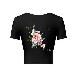 1 шт. Горячая Красивая нашивка цветы теплопередача железа на патч А-уровень моющиеся наклейки для одежды легко напечатать бытовые утюги