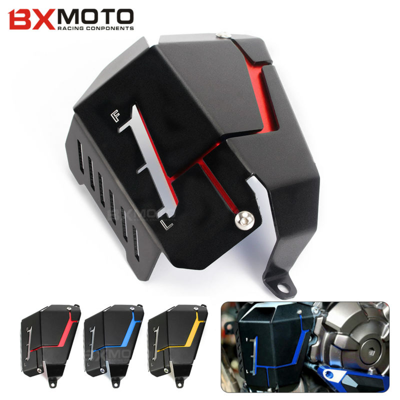 CNC Aluminum Motorcycle Radiator Water Coolant reservoir Tank Guard Cover For YAMAHA MT-07 MT07 FZ-07 FZ07 for yamaha mt 07 mt 07 fz07 mt07 2014 2015 2016 accessories coolant recovery tank shielding cover high quality cnc aluminum