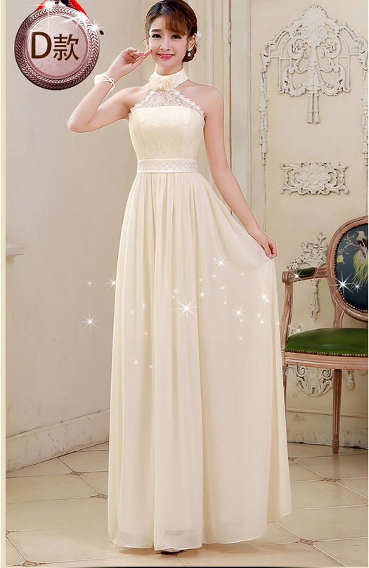 Vestidos en color beige largos