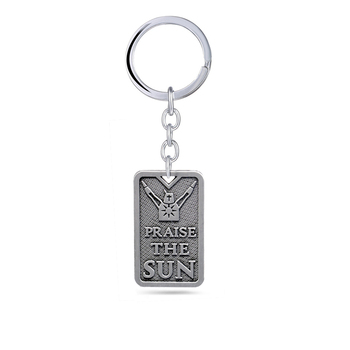 Dark Souls 3 Keychain praise the sun Solaire of Astora Pendant Metal chaveiro Key Ring bag charm Key Chain Game Jewelry image