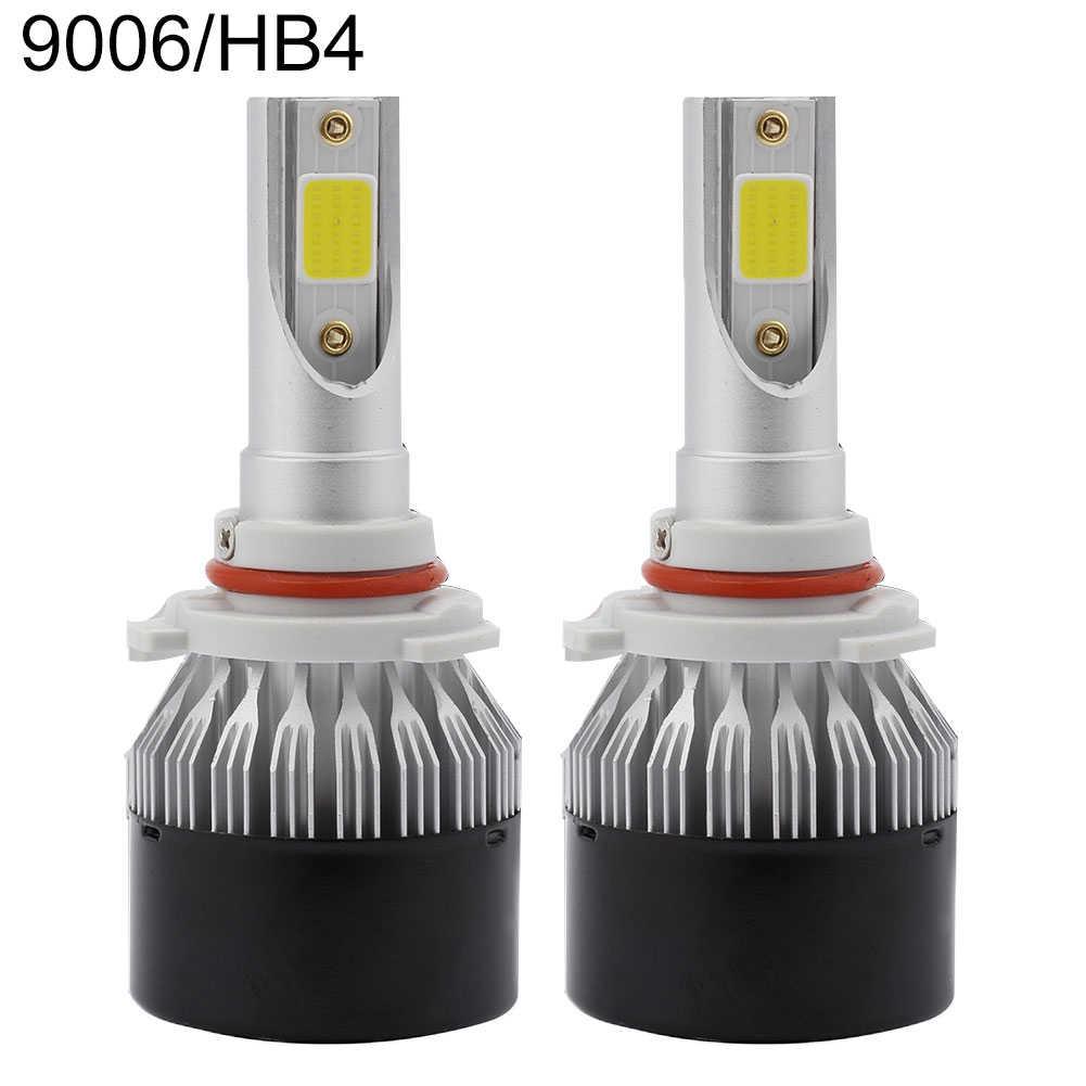 2Pcs EV9 Aluminum 60W DOB LED Auto Car Headlights Waterproof HID Headlamp Bulbs