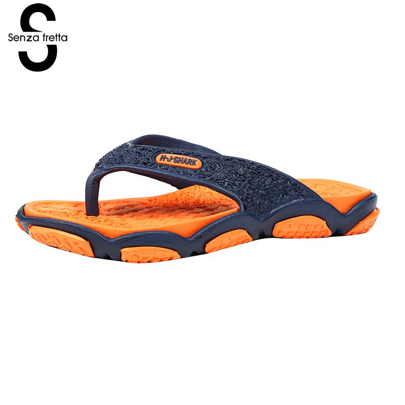 Senza Fretta Men Shoes Flip Flops Beach Sandals Casual Summer Eva Slippers Shoes Men Casual Non-slip Sandals Flip Flops Shoes фоторамка senza 20х25 см хром 956444