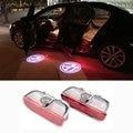 2x LED Porta Bem-vindo Luz Do Projetor Do Logotipo Do Carro Para VW Golf 5 6 7 Jetta MK5 MK6 Tiguan Passat B6 B7 CC Touareg Scirocco Sharan EOS