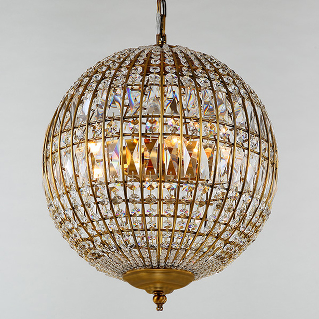 American style rustic industrial crystal ball pendant light lamp american style rustic industrial crystal ball pendant light lamp ac90 260v edison bulb loft vintage aloadofball Image collections