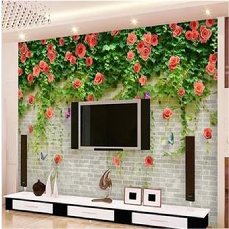 beibehang Large murals wallpaper rose cozy bedroom TV sofa backdrop 3d wallpaper for living room photo wallpaper papel de parede book knowledge power channel creative 3d large mural wallpaper 3d bedroom living room tv backdrop painting wallpaper