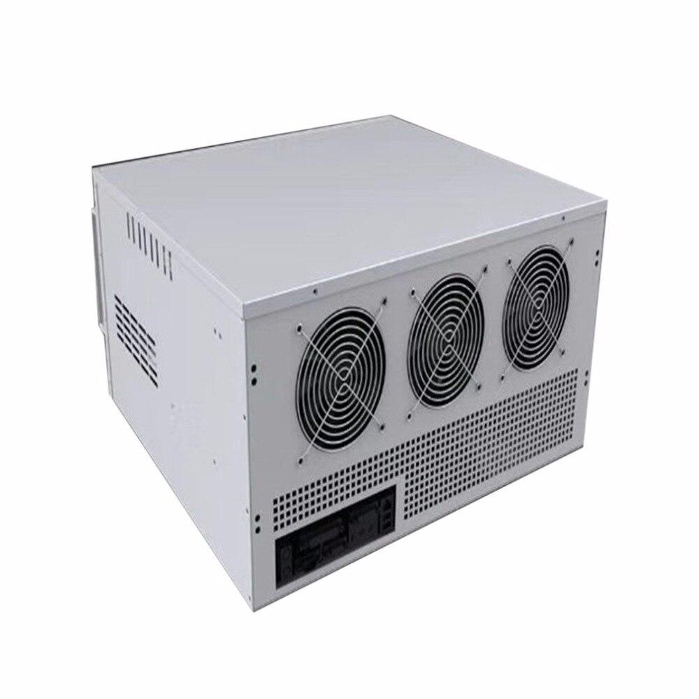 8 Графика передачи Тип сервер добыча Шахтер машина шасси двойной блок питания ATX с 6*12 см охлаждения мяч вентилятор