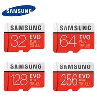 כרטיס זיכרון 128 GB EVO U3 סמסונג בתוספת Class10 כרטיס מיקרו sd UHS-1 64 GB 256 GB Microsd מקסימום מהירות 100 M/S 32 גרם עבור Tablet Smartphone