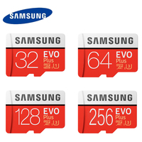 Samsung U3 Speicherkarte 128 GB EVO PLUS Micro sd-karte Class10 UHS-1 64 GB 256 GB Geschwindigkeit Max 100 MT/S 32G Microsd für Tablet Smartphone