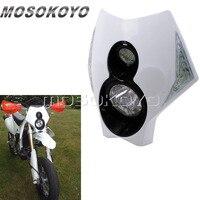 Blanco X2 faro Motocross Pit de la bici de la suciedad LED indicador de versión Faro de carretera para Suzuki Yamaha KTM|  -