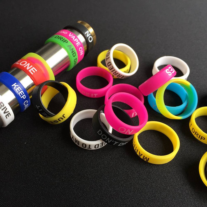 22mm Silicone Rubber Band Ring For Mechanical Mods Decorative And Protection Non Slip Band For Electronic Cigarette