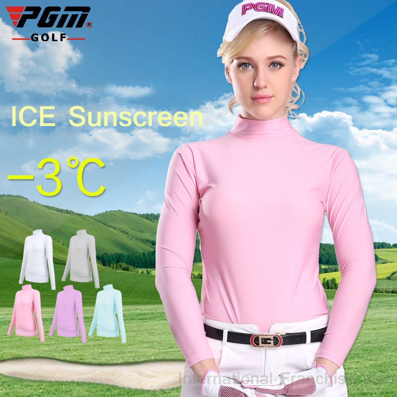 pgm lady sungreen golf tshirt compression women long sleeve polo shirt quick dry golf ropa de. Black Bedroom Furniture Sets. Home Design Ideas