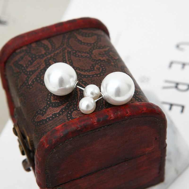 Moda di cristallo d'imitazione della perla della vite prigioniera orecchini set per le donne di boho orecchini boucle d' oreille femme 2020