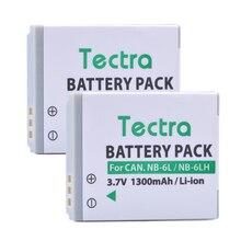 Tectra 2 шт 1300 mAh NB-6L NB-6LH Батарея для Canon PowerShot sx230 D10 D20 sx260 ELPH 500 HS S90 SD770 SD980 NB6L Батарея