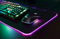 darkFlash 800*300mm RGB mouse pad keyboard pad adjustable color gaming mousepad controller