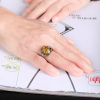 JIUDUO Agate rings Yellow Gold Prong Setting Water Drop Customizable rings design factory direct special package mail