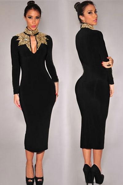 Stunning Black Turtleneck Dress Plus Size Contemporary ...