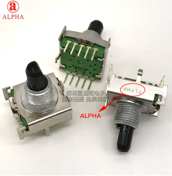 Taiwan  ALPHA band switching SR1712F-0107-15F rotary switch 7 gear 15mm half axis