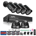 SANNCE New 8CH 4 in 1 TVI DVR 6 PCS 1200TVL IR Weatherproof Outdoor Video Surveillance Home Security Camera System