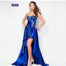 Strapless Evening Dress Royal Blue Sequin for Party Elegant Women Formal Dresses Gown Mermaid
