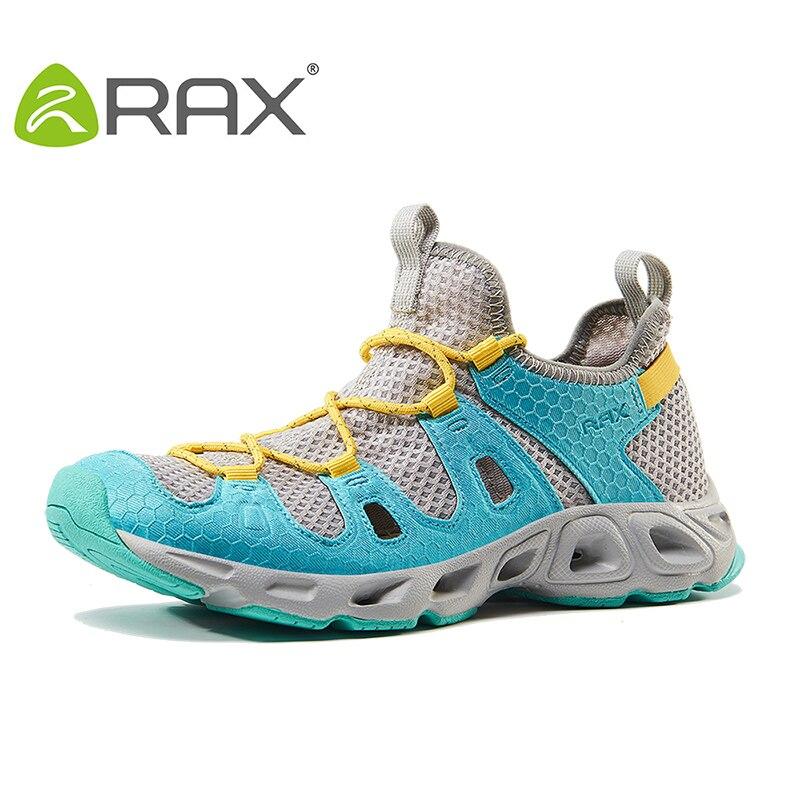 Rax 2017 дышащая походная Быстросохнущие кроссовки Для мужчин Для женщин Летняя легкая Пеший Туризм обувь прогулочная рыбалки обувь Zapatos