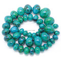 "Man-Made Chrysocolla 10-20mm Gradually Rondelle Beads 15.5""/39cm,For DIY Jewelry making We provide mixed wholesale for all items"