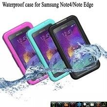 100% Водонепроницаемый Футляр Противоударный Гель Сенсорный Крышки Экрана Для Samsung Galaxy Note 4 N9100/Примечание Край Плавание Дайвинг До 18 Футов глубоко
