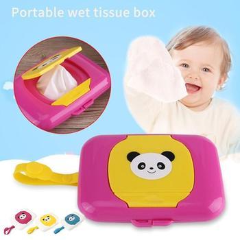 Cartoon Baby Hanging Wet Wipes Storage Case Kids Plastic Tissue Paper Holder Dispenser Storage Tissue Box Container Organizer