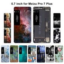 Для Meizu Pro 7 Plus чехол с пейзажем, чехол для Meizu Pro 7 Plus, мягкий чехол для телефона, силиконовый чехол PRO7 Plus, чехол
