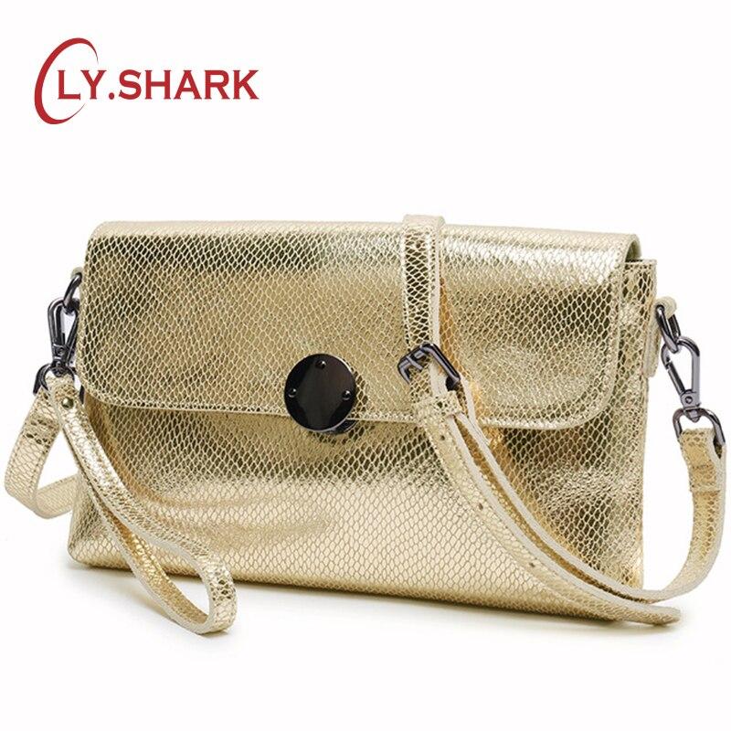 LY SHARK Ladies Genuine Leather Handbag Women Messenger Bag Small Shoulder Crossbody Bags For Women 2018