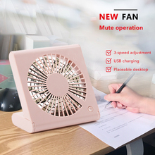 Create Portable Mini USB Rechargeable Air Cooling Fan Silent 3 Gear Usb Desk Fan For Home Office Handy Air Cooler цена и фото