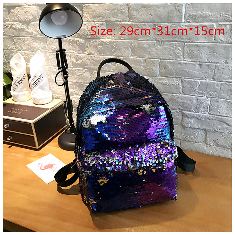 Miyahouse Fashion Colorful Sequins Design Backpack For Teenage Girls Pu Leather Small Backpack Female Shoulder Bag #3
