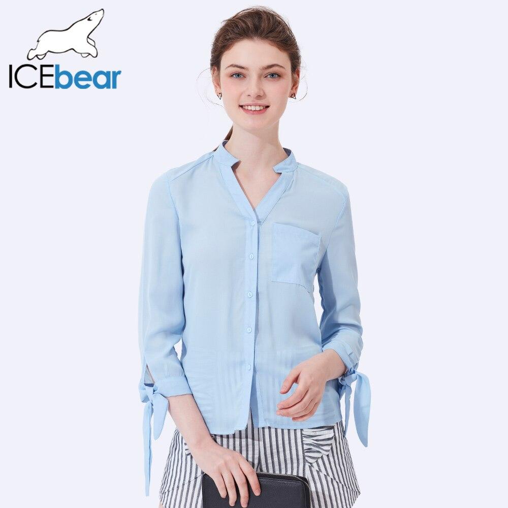 ICEbear 2017 Bureau D'affaires Costume Blouses Pour Femmes D'été De Mode Plein Manches En Mousseline de Soie Shirts Femme Vêtements 2005D