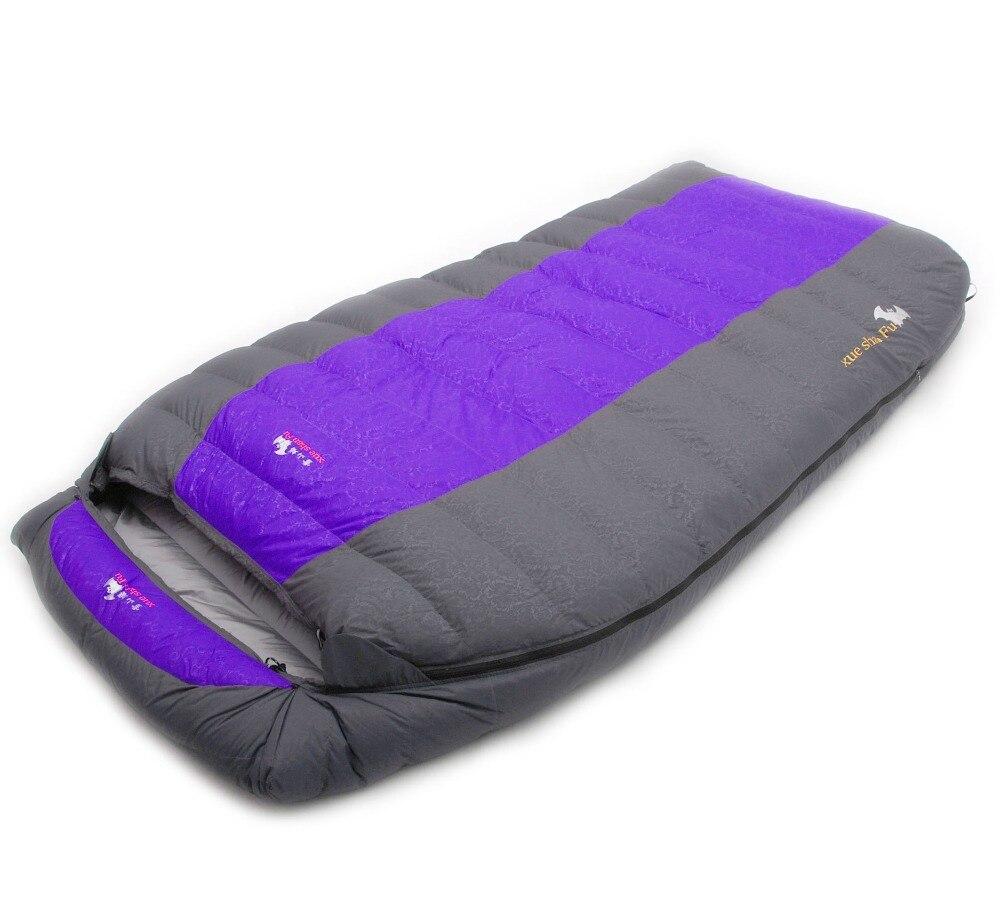 Image 3 - Xueshanfu 2 Person 4500G/5000G Duck Down Filling Professional Warmth Waterproof Comfortable Camping Sleeping Bag Slaapzakcamping sleepingcamping sleeping bagdown sleeping bag -
