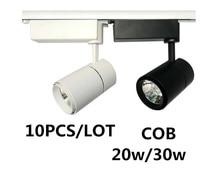 10PCS 3 lines 20W/30W COB LED track light led rail lamp leds spotlights lighting fixture for shop store spot lighting AC 240V стоимость