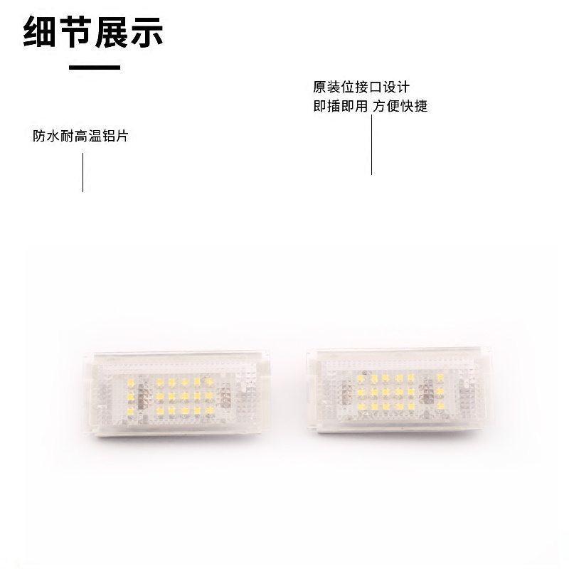 For 98 06 year BMW 3 Series E46 headlight decoding 325i 328i 330 XI 323 318 320 M3 license plate light assembly in Signal Lamp from Automobiles Motorcycles