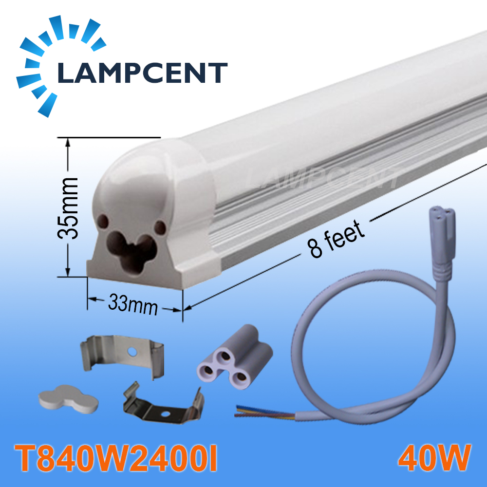 4/Pack LED Integrated Tube T8 8FT (2.4M) 40W Linear Lamp Bulb Bar With Accessory global elementary coursebook with eworkbook pack