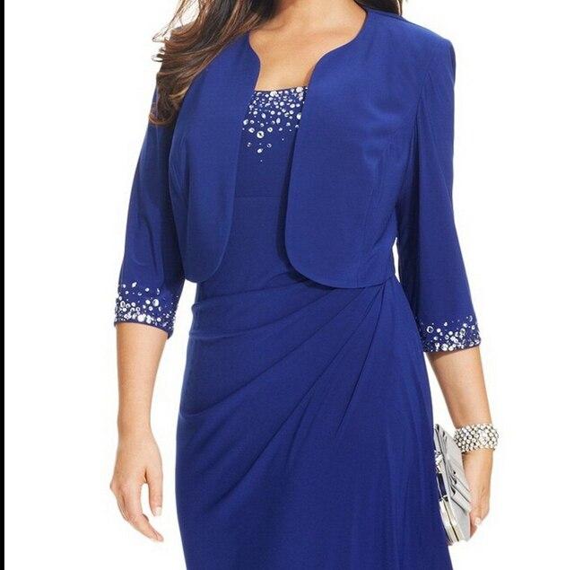 Venda de Hot Fashion Style Safira Azul das Mulheres Plus Size Bolero Bolero Jaqueta De Casamento De Noiva