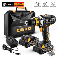 DEKO GCD20DU2 20V MAX Cordless Drill Electric Screwdriver Lithium Ion Mini Power Driver Variable Speed with LED Light