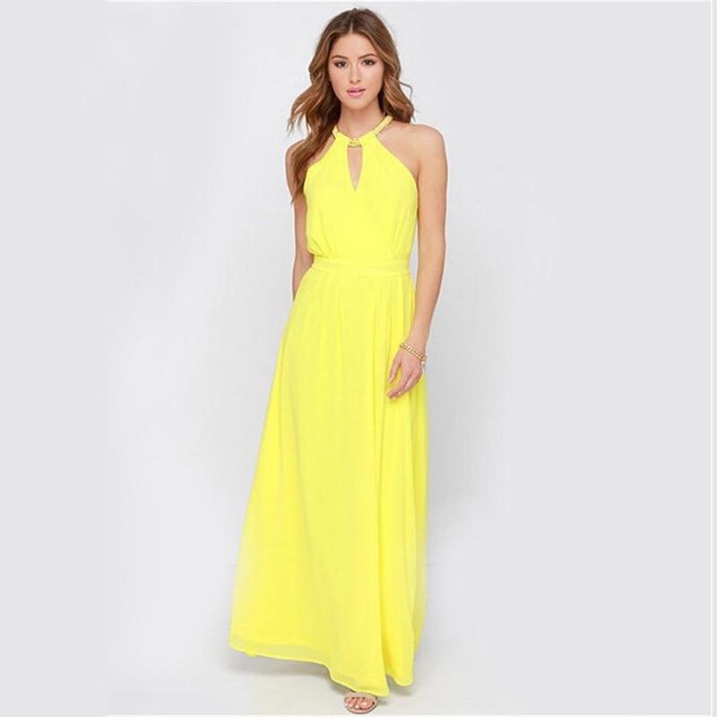 Popular Maxi Dress Yellow-Buy Cheap Maxi Dress Yellow lots from ...