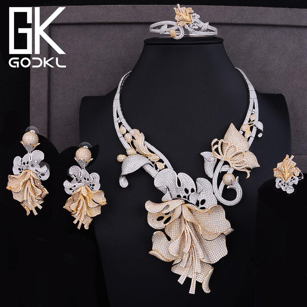 GODKI Luxury Cubic Zirconia Nigerian Jewelry sets For Women Wedding Dubai Bridal jewelry sets Long African Statement Jewelry SetGODKI Luxury Cubic Zirconia Nigerian Jewelry sets For Women Wedding Dubai Bridal jewelry sets Long African Statement Jewelry Set