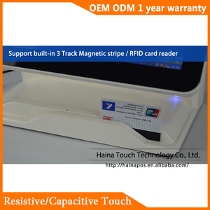 Image 5 - האינה מגע 15 אינץ מגע מסך גז תחנת קופה מערכת כפולה מסך Wifi קופה מכונה