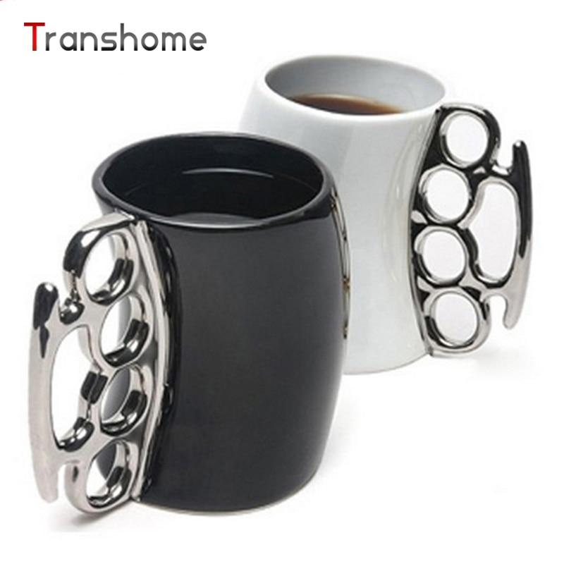 Creative Wacky Heavy Ceramic <font><b>Cups</b></font> And Mugs Shaped Bent <font><b>Over</b></font> Boxing Porcelain Mug For <font><b>Coffee</b></font> Tea Milk Transhome