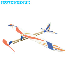 DIY Kids Toys Rubber Band Powered Aircraft Model Kits Toys for Children Foam Plastic Assembly Planes Model Science Toy Gifts assembly model trumpet hand model 1 35 ch 47a zhi ngan aircraft toys