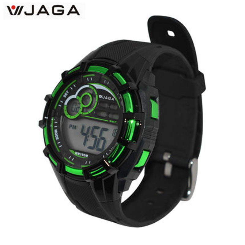 JAGA Sports Watches Men Movement Multifunction Electronic Watch 100 Meters Waterproof Watches Diving Sports Watch M997