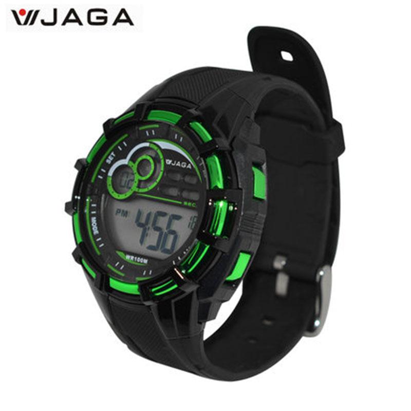 JAGA sport montres hommes mouvement multifonction électronique montre 100 mètres étanche montres plongée sport montre M997