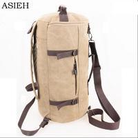 Fashion Canvas Backpacks Travel Bag Large Capacity Men Backpack Canvas Weekend Bags Waterproof Multi Functional Travel