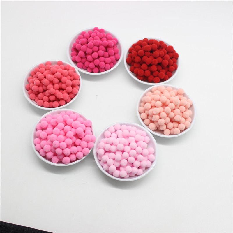 400Pcs 10mm Round Pink Red White Blue Purple Yellow Black Plush Ball DIY Crafts Pom Poms Wedding Garment Decoration Accessories in Artificial Dried Flowers from Home Garden