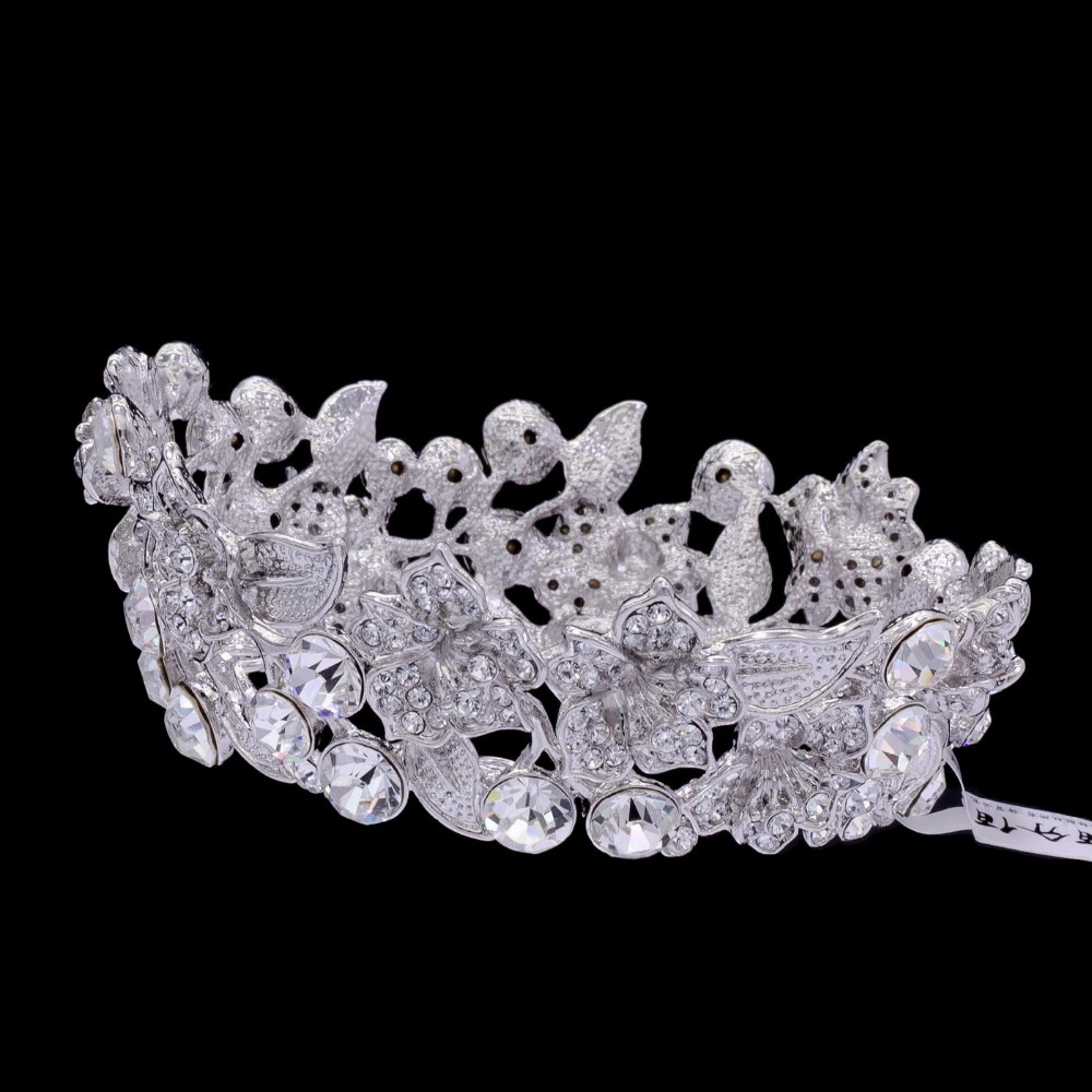 High Quality Exquisite Flower Tiaras and Crowns for Little Girl Wedding Jewelry Hair Accessories Austrian Crystals Gift SHA8653A заколки hello little girl hair accessories